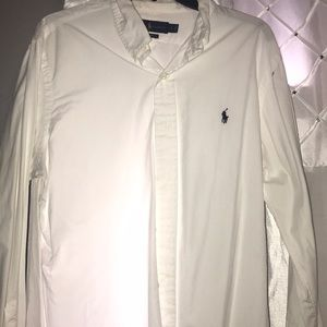 White custom fit polo